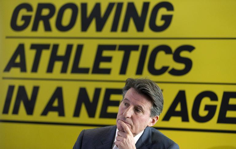 Sebastian Coe is pictured during a press conference to discuss his bid to become the next President of the International Association of Athletics Federations in central London on December 3, 2014 (AFP Photo/Justin Tallis)