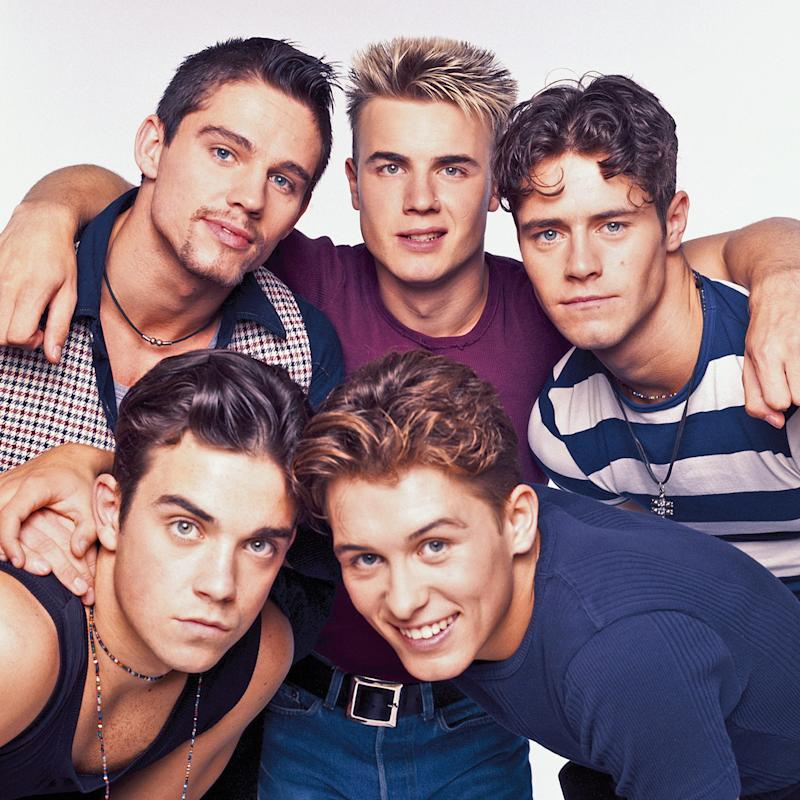 Take That in 1992 (clockwise from top left): Jason Orange, Gary Barlow, Howard Donald, Mark Owen and Robbie Williams - Getty Images