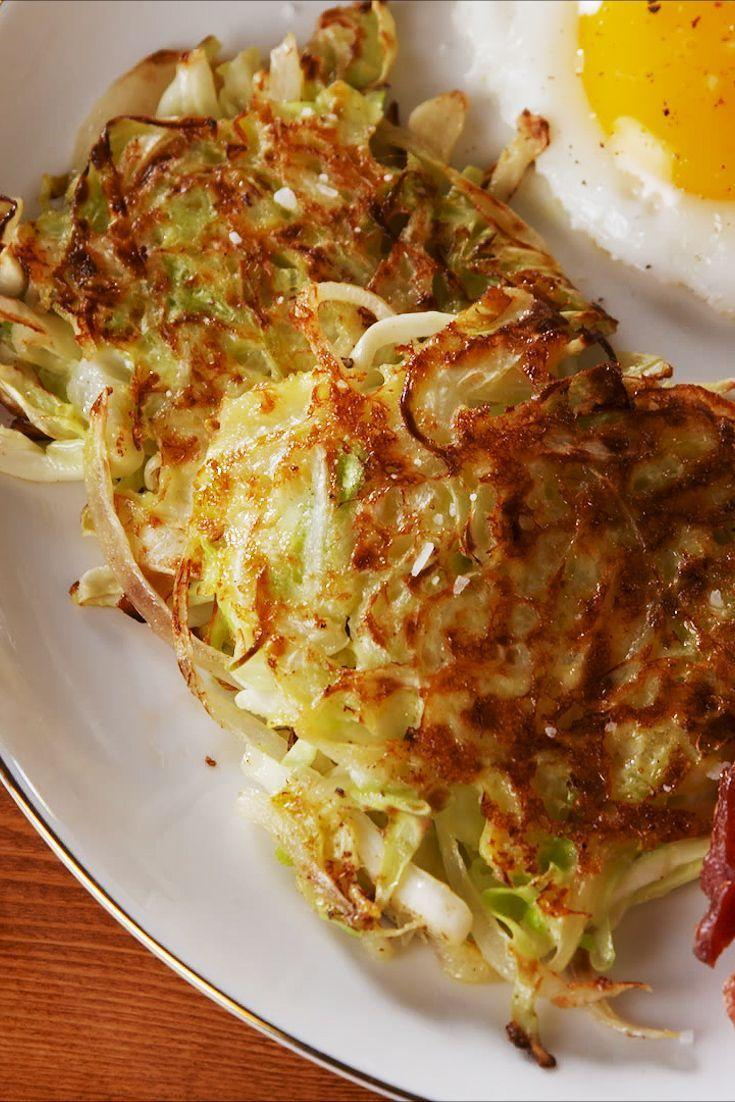 "<p>The hash browns you know and love...with a twist! </p><p> Get the recipe from <a href=""https://www.delish.com/cooking/recipe-ideas/a26044120/cabbage-hash-browns-recipe/%20https://www.delish.com/cooking/a1192/how-to-cook-tofu/"" rel=""nofollow noopener"" target=""_blank"" data-ylk=""slk:Delish"" class=""link rapid-noclick-resp"">Delish</a>.<br></p>"