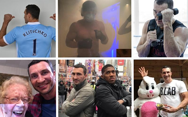 What has Wladimir Klitschko been up to on Instagram ahead of his heavyweight bout with Anthony Joshua - Wladimir Klitschko Instagram