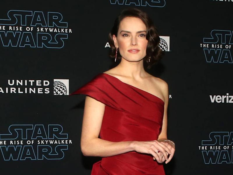 Daisy Ridley wows in red at premiere of Star Wars: The Rise of Skywalker