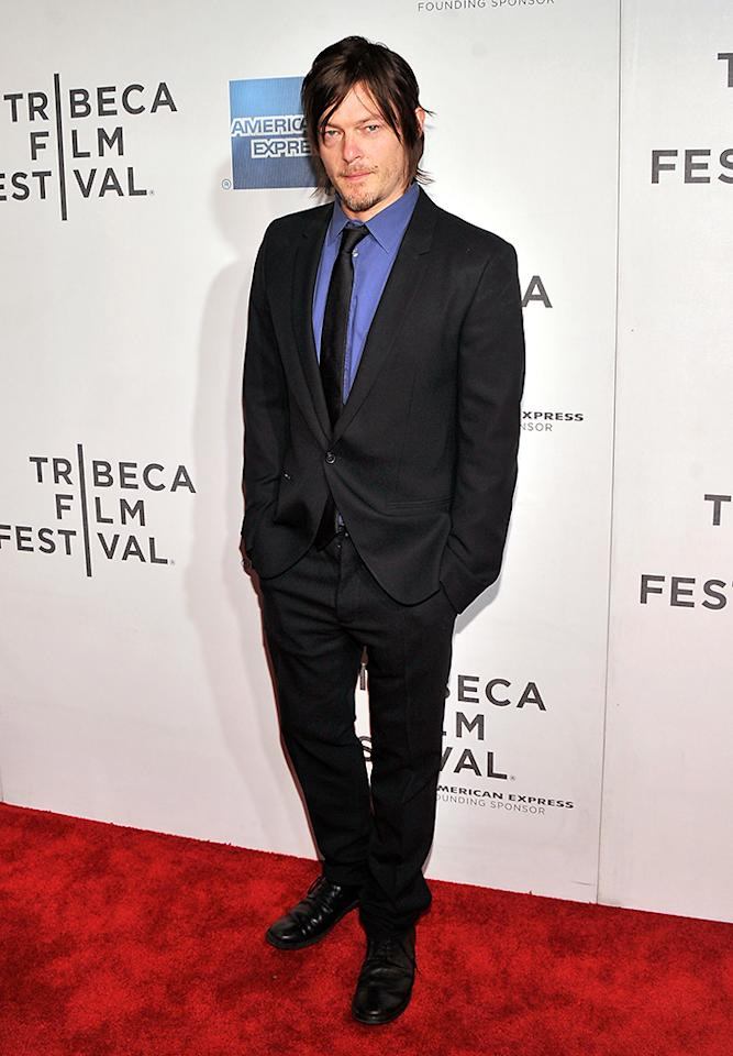 "NEW YORK, NY - APRIL 20:  Actor Norman Reedus attends the ""Sunlight Jr."" World Premiere during the 2013 Tribeca Film Festival on April 20, 2013 in New York City.  (Photo by Stephen Lovekin/Getty Images for Tribeca Film Festival)"
