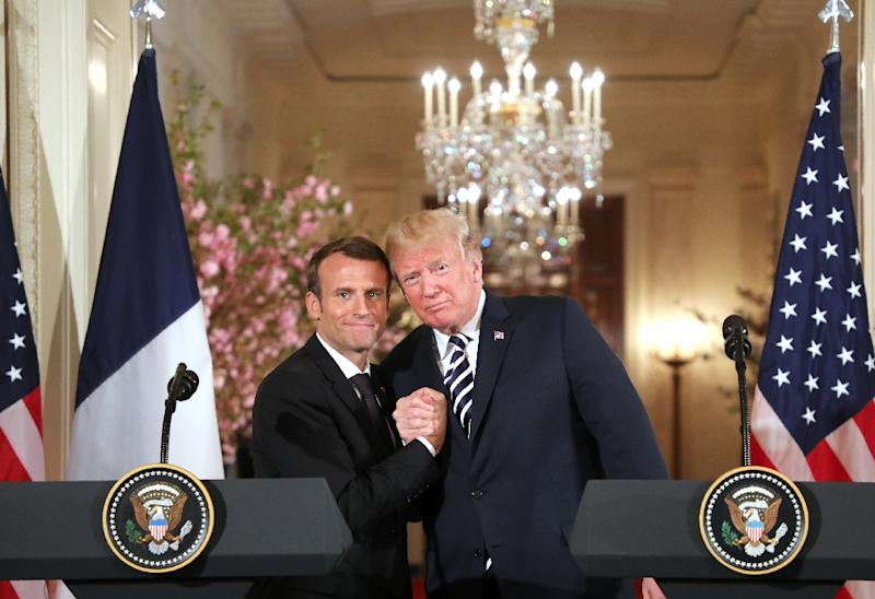French President Emmanuel Macron probably enjoys a warmer relationship with US President Donald Trump than any other world leader (AFP Photo/Ludovic MARIN)