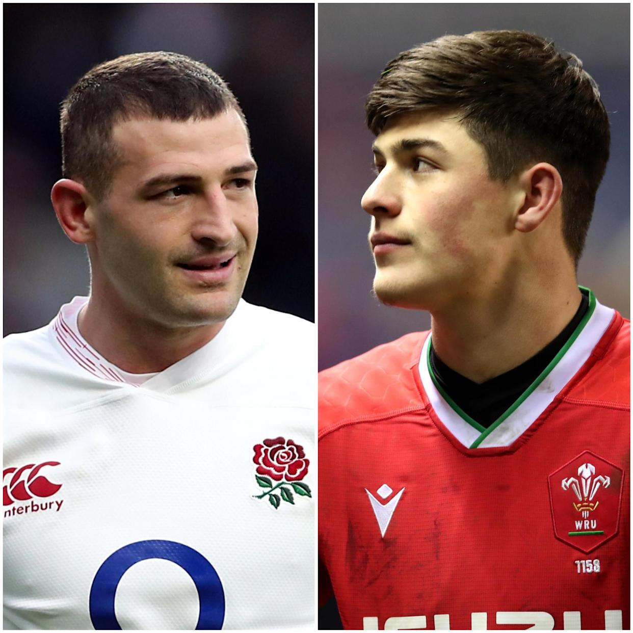 Jonny May and Louis Rees-Zammit
