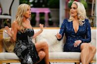 """<p>Camille Grammer was the infamous villain of the inaugural season of <em>Beverly Hills, </em>but by season three, Bravo execs decided she was better fit as a Friend. """"Camille was miffed that she was only being asked to come back as an occasional guest, and not part of the regular cast,"""" a source told <em><a href=""""https://radaronline.com/exclusives/2012/03/camille-grammer-leaving-real-housewives-beverly-hills/"""" rel=""""nofollow noopener"""" target=""""_blank"""" data-ylk=""""slk:RadarOnline"""" class=""""link rapid-noclick-resp"""">RadarOnline</a></em> in 2012. """"Camille feels like producers are retaliating against her because in season 1 she was portrayed as the villain, but during season 2, as her life calmed down because most of her divorce drama was finished, she was in a much better place, and very happy. Camille doesn't need to be on the show and she turned down the offer.""""</p><p>The demotion didn't keep her away for long, though. She has gone on to become one of the most consistent Friends in the <em>Housewives </em>franchise, appearing regularly in numerous seasons. In season 9, """"Hurricane Camille"""" stirred up enough drama to even earn a seat at the reunion.</p>"""
