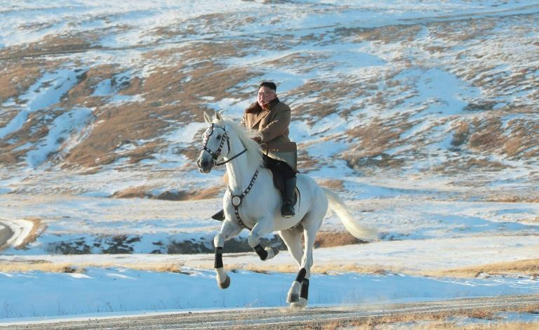 Pictures of Kim Jong Un riding a white horse through a winter landscape have fuelled speculation that the young leader may be set for a major policy announcement
