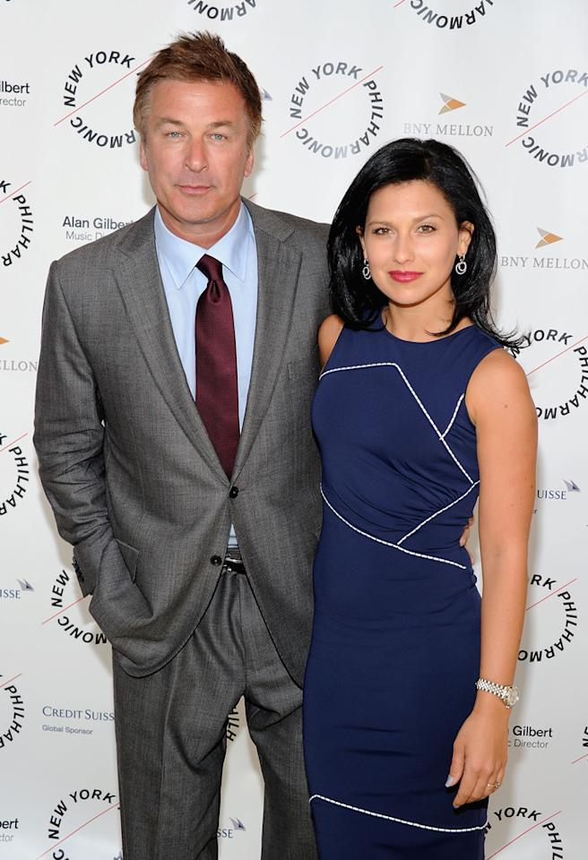 NEW YORK, NY - MARCH 26:  Alec Baldwin and Hilaria Thomas attend the 2012 New York Philharmonic Spring gala at Avery Fisher Hall Grand Promenade on March 26, 2012 in New York City.  (Photo by Jamie McCarthy/Getty Images)