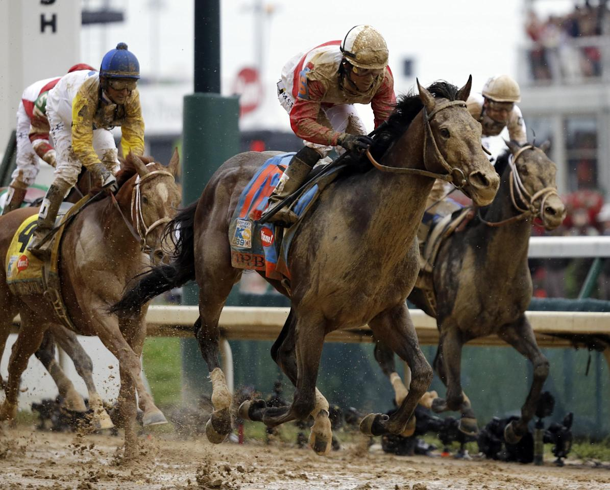 Joel Rosario rides Orb during the 139th Kentucky Derby at Churchill Downs Saturday, May 4, 2013, in Louisville, Ky. (AP Photo/David Goldman)