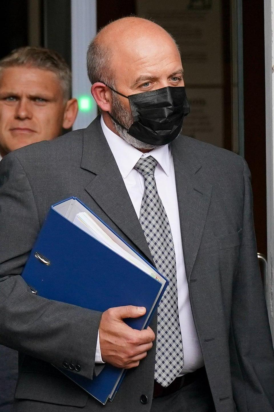 West Mercia Pc Jamie Holloway leaving Worcester Crown Court (Jacob King/PA) (PA Wire)