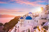 """<p>Whimsy and wonder sing through the <a href=""""https://www.veranda.com/travel/g36501054/greece-travel-guide/"""" rel=""""nofollow noopener"""" target=""""_blank"""" data-ylk=""""slk:picturesque islands and islets of Greece"""" class=""""link rapid-noclick-resp"""">picturesque islands and islets of Greece</a>. In recent years, the ancient temples and ruins of Athens and iconic blue domes and whitewashed facades of Oia have quickly become can't-miss attractions for travelers. However, the real magic of Greece lies in the quirky haunts of the lesser-known islands, such as the thermal baths of Evia and art exhibits of Nisyros. No trip to the Mediterranean country is complete without a stop at Naxos for fresh seafood. </p>"""