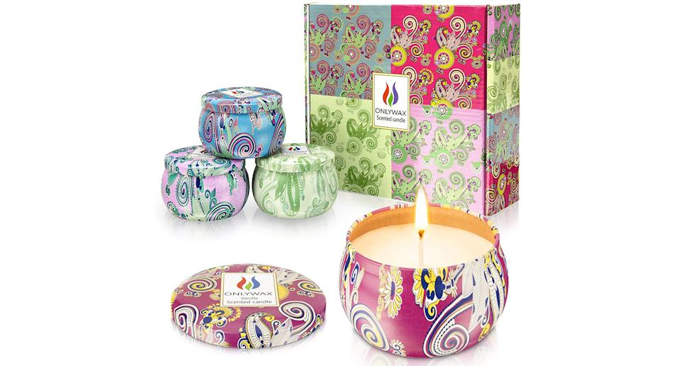 Onlywax Pack of 4 x 125 Grams Scented Candles