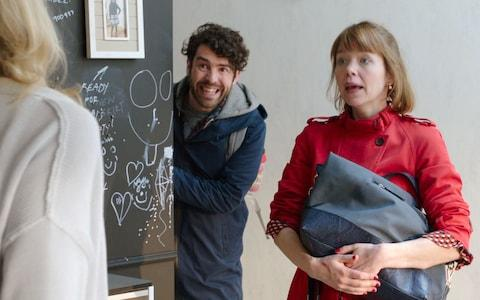 Kevin (PAUL READY) and Julia (ANNA MAXWELL-MARTIN) star in Motherhood - Credit: Delightful Pictures/Merman/BBC