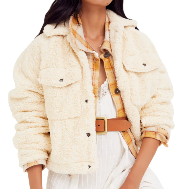 Free People Teddy Swing Jacket