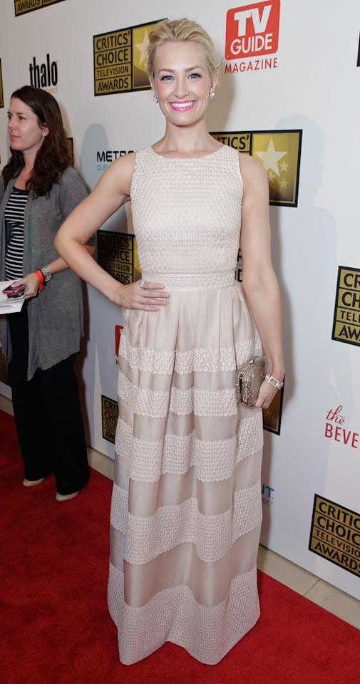 Beth Behrs attends the 2012 Critics' Choice Television Awards at The Beverly Hilton Hotel on June 18, 2012 in Beverly Hills, California.