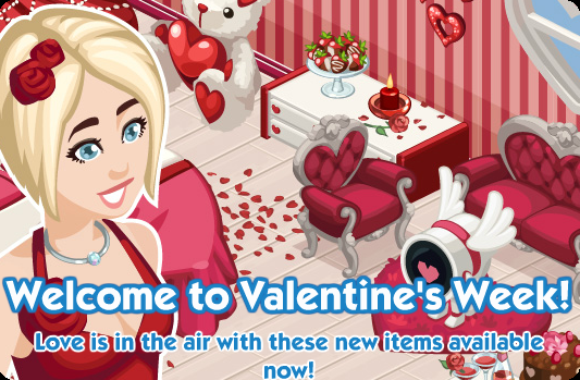 The Sims Social Valentine's Week