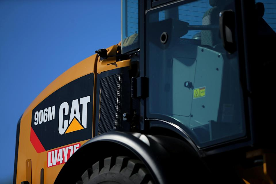 A Caterpillar Inc. equipment is on display for sale at a retail site in San Diego, California, U.S., March 3, 2017. REUTERS/Mike Blake/File Photo