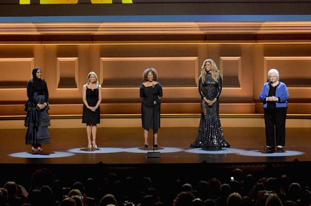 <span>Ibtihaj Muhammad</span>, <span>Katie Couric</span>,  <span>Ruby Bridges</span>, <span>Laverne Cox</span> and <span>Sarah Weddington</span>. (Jason Kempin via Getty Images)