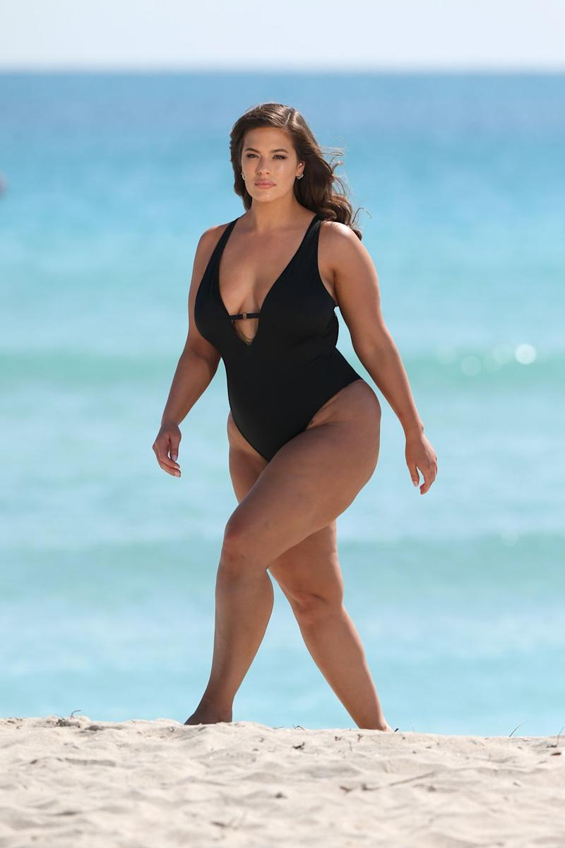 13368242c7 Ashley Graham Goes Unretouched in Swimsuit Ads