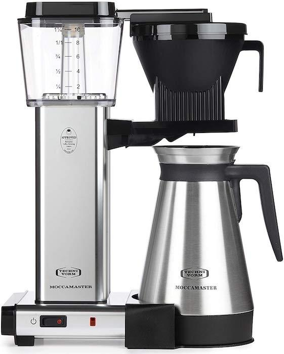 Moccamaster's thermal carafe keeps coffee hot for an hour. (Photo: Amazon)