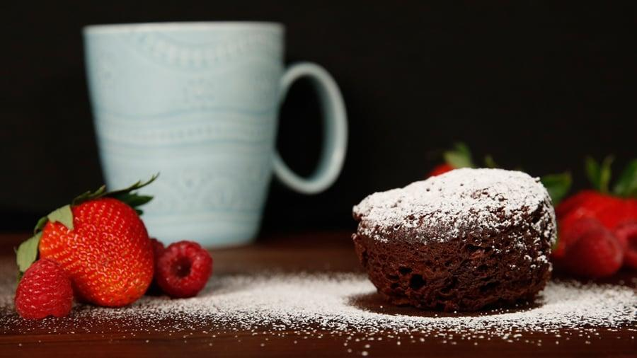 """<p>Easy to make and complete with a quick clean up, mug cakes are the new go-to recipes. This decadent flourless chocolate cake requires zero baking, meaning even the most inexperienced chef can make it in no time!</p> <p><strong>Get the recipe</strong>: <a href=""""https://www.popsugar.com/food/Flourless-Chocolate-Microwave-Mug-Cake-Recipe-37138216"""" class=""""link rapid-noclick-resp"""" rel=""""nofollow noopener"""" target=""""_blank"""" data-ylk=""""slk:mug cake"""">mug cake</a></p>"""