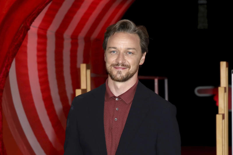 Actor James McAvoy poses for photographers on arrival at the European Premiere of the film 'It Chapter 2' in central London on Monday, Sept. 2, 2019. (Photo by Grant Pollard/Invision/AP)