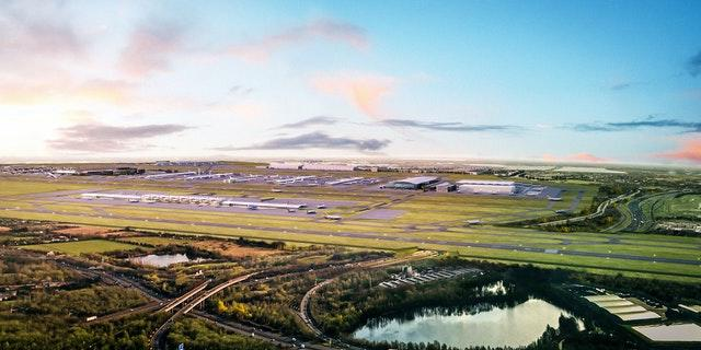An image released by Heathrow of its planned third runway (Heathrow Airport/PA)