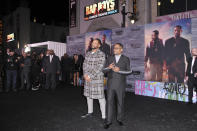 """FILE - In this Jan. 14, 2020, Will Smith, left, and Martin Lawrence attend the LA premiere of """"Bad Boys for Life"""" at the TCL Chinese Theatre in Los Angeles. Unsurprisingly, the 2020 top 10 is a little chaotic and comprised mostly of films from the first two months of the year due to the global coronavirus pandemic. Sony's Will Smith sequel """"Bad Boys for Life"""" has stayed in first place in North America since its January release with $206.3 million. (Photo by Richard Shotwell/Invision/AP, File)"""