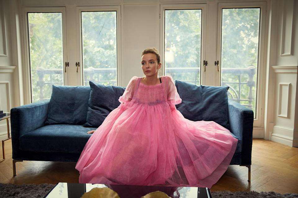 We're more obsessed with millennial pink than ever before thanks to BBC1 cat-and-mouse thriller 'Killing Eve' [Photo: Sid Gentle Films/Robert Viglasky]