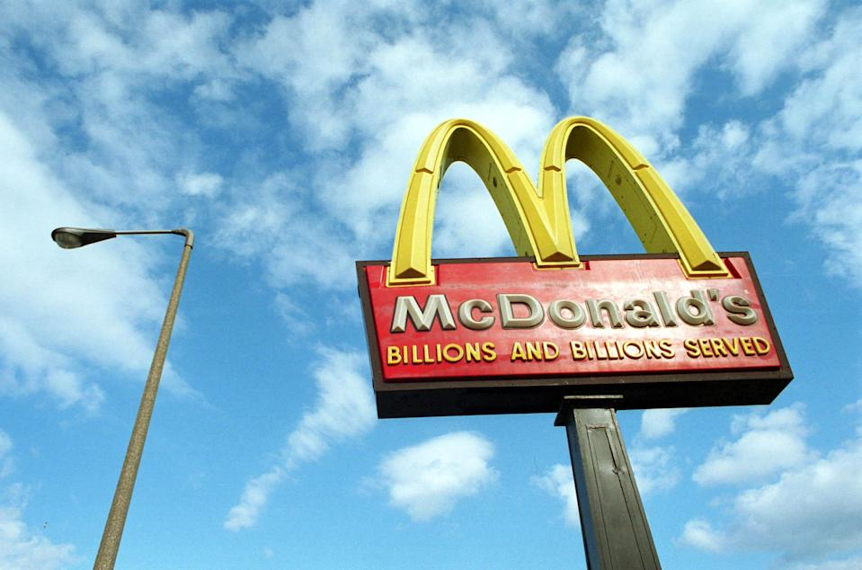 Three days after a man brought a dead raccoon into a McDonald's, the fast-food restaurant reopens. (Photo: Darren McCollester/Newsmakers)