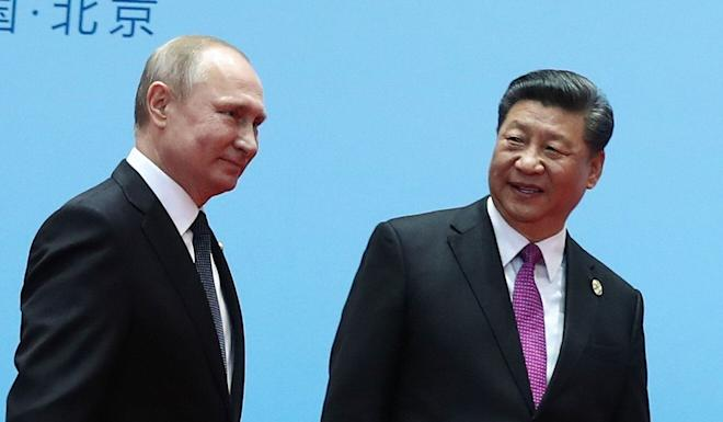 Presidents Xi Jinping and Vladimir Putin pledged to strengthen the strategic partnership between China and Russia. Photo: AFP
