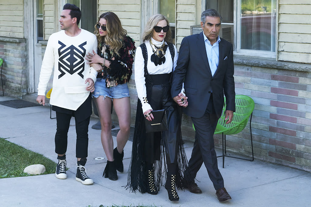 """<p><b>This Season's Theme: </b> Now that the Rose family has begun to accept that Schitt's Creek is their home, """"The third season will be about adjusting to a new way of life,"""" says co-creator Daniel Levy, who also stars as David. """"They all have to get jobs, and they all end up finding love. There's a lot of really juicy comedy and romance and drama.""""<br /><br /><b>Where We Left Off: </b> David and Stevie (Emily Hampshire) were eying the same man, and while that """"throuple"""" plays out early, their storylines take a turn midseason once Stevie inherits the motel (and requires help from Eugene Levy's Johnny) and David finds a match in his new retail partner, Patrick (Noah Reid). """"I don't think David's ever been in a relationship with anyone who respected him before,"""" Daniel says, """"so this is all new, exciting territory for him."""" <br /><br /><b>Coming Up: </b> Moira (Catherine O'Hara) takes her hard-earned seat on the town council, and (gasp!) attempts to dine with single Alexis (Annie Murphy). """"Moira might need her family more than she thinks,"""" Dan says. """"We get to peel back the layers on Moira a bit, which gives Catherine a great platform to run wild, in a way that only she can."""" <br /><br /><b>Arrested Development: </b> David will try to obtain his driver's license, and Alexis will head back to high school to get her diploma. """"Part of the humor for these characters, particularly David and Alexis, is they seem a little stunted,"""" Dan says. """"What's exciting for us is being able to delve a little deeper into their past and lay more foundation for why they're acting the way they're acting."""" <i>— Mandi Bierly</i> <br /><br />(Credit: Pop) </p>"""