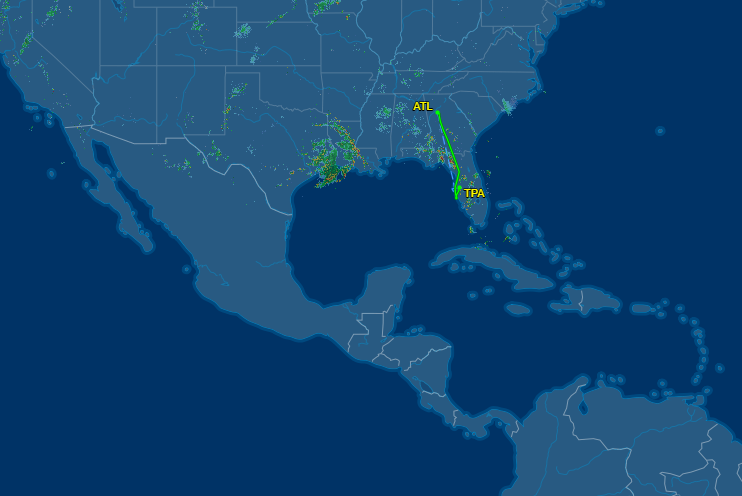 The flight was diverted to Tampa: FlightAware