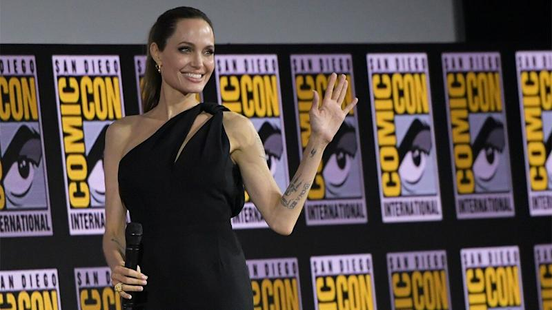 Angelina Jolie Makes Surprise Comic-Con Appearance With 'The Eternals' Cast