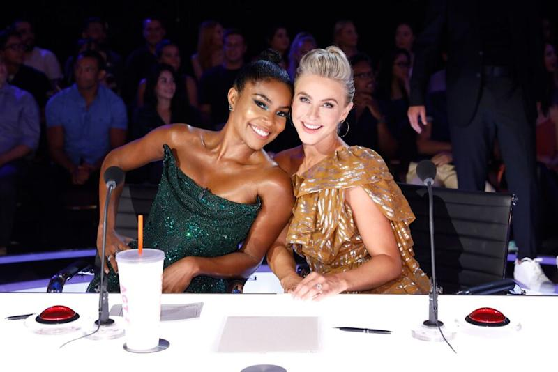 Gabrielle Union and Julianne Hough | Trae Patton/NBC