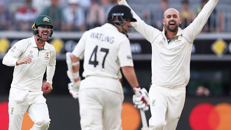Nathan Lyon, pictured here in action against New Zealand in Perth.