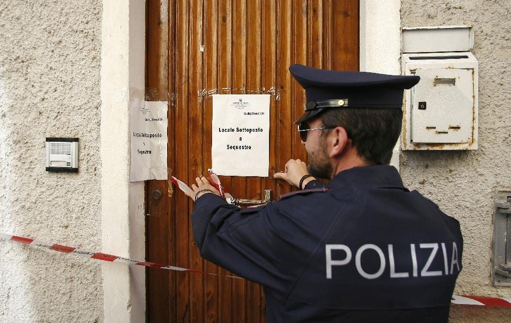 An operation, which involved over 100 special agents, implicated mafia families in Vita and Salemi, two towns in western Sicily (AFP Photo/MARCELLO PATERNOSTRO)