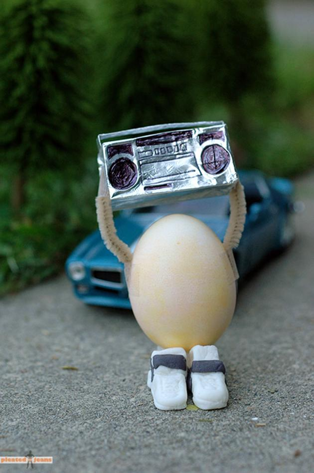 """In your eggs…"" Admit it – this ""Say Anything"" egg from Pleated-Jeans.com has you humming."