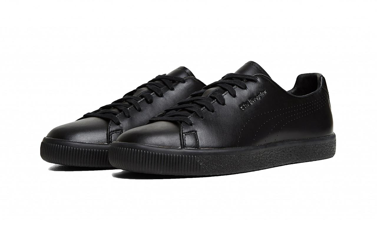 """<p>Cool Parisian brand The Kooples has teamed up sportswear giant PUMA for a two-piece trainer collaboration that is set to be snapped up by the style pack. The brand has reimagined PUMA's classic Clyde trainer in sumptuous white and black leather with a subtle skull head jewelled onto the back.<br /><a rel=""""nofollow"""" href=""""http://www.thekooples.co.uk/puma.html""""><em>The Kooples, £150</em> </a> </p>"""