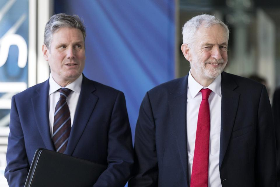 <p>Labour leader Sir Keir Starmer with his predecessor Jeremy Corbyn</p>Getty Images