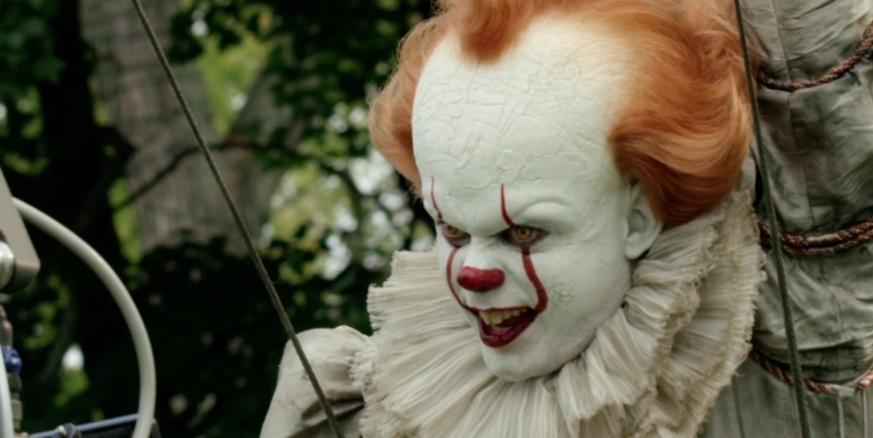 Bill Skarsgård as Pennywise in <i>IT: Chapter Two</i>. (Warner Bros.)