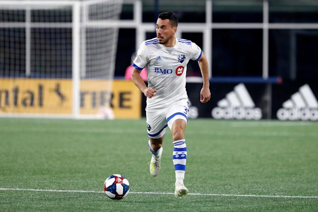 Daniel Lovitz and the Montreal Impact have played just two of their first 10 games at home. (Fred Kfoury III/Getty)
