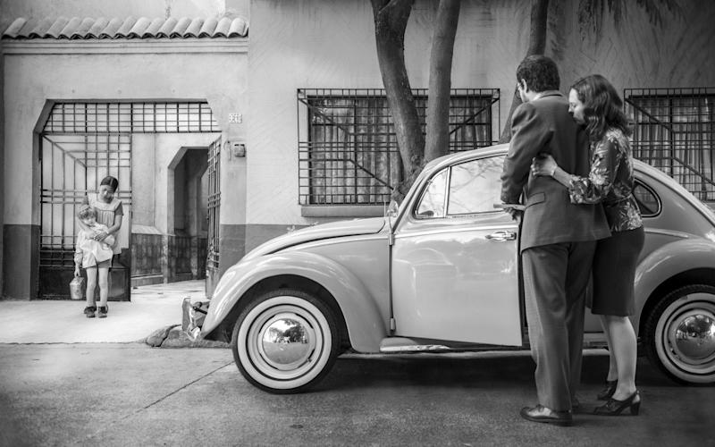 A scene from Roma, the most successful Netflix film to date, which won three Oscars in February and was nominated for seven more - Netflix