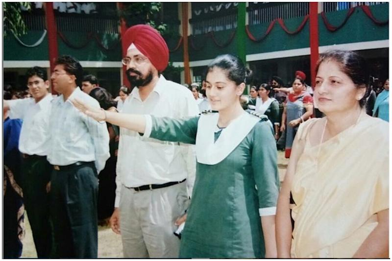 'Partly Proud, Partly Embarrassed' Taapse Pannu Shares Throwback Pic of Taking Oath as School Head Girl