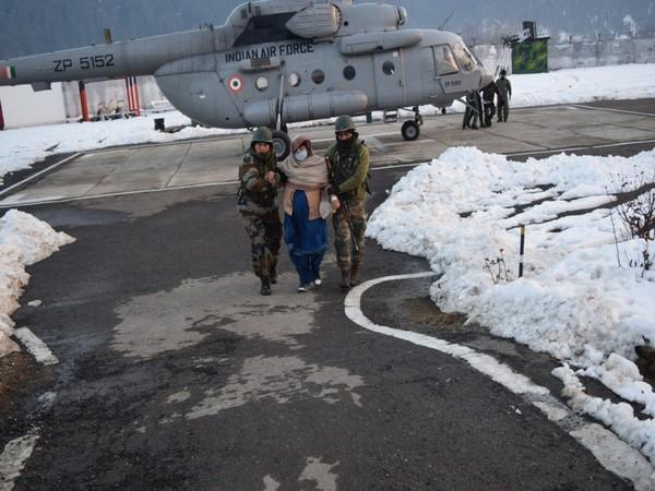 Indian Army & Air Force conducted a joint evacuation operation in Tangdhar on Friday.