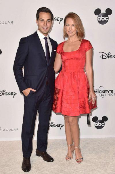 PHOTO: Skylar Astin and Anna Camp attend Mickey's 90th Spectacular at The Shrine Auditorium on October 6, 2018, in Los Angeles. (Alberto E. Rodriguez/Getty Images, FILE)