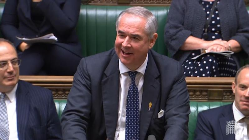 Attorney General Geoffrey Cox addresses the House of Commons, London, after judges at the Supreme Court ruled that Prime Minister Boris Johnson's advice to the Queen to suspend Parliament for five weeks was unlawful. (Photo by House of Commons/PA Images via Getty Images)