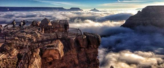 Rare Weather Event Fills Grand Canyon with Fog