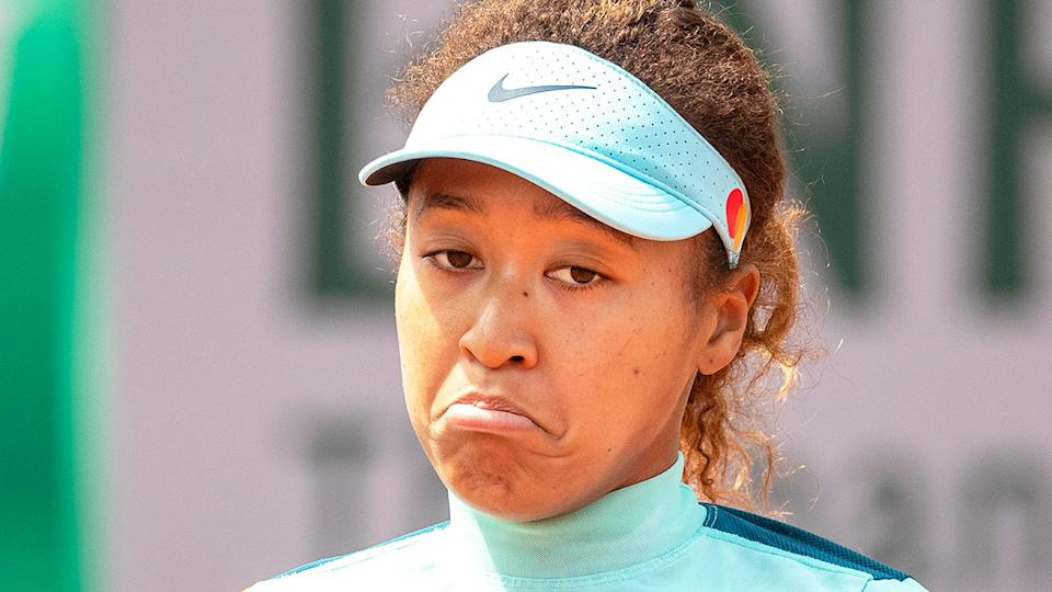 Naomi Osaka is seen here during the build-up to the 2021 French Open.