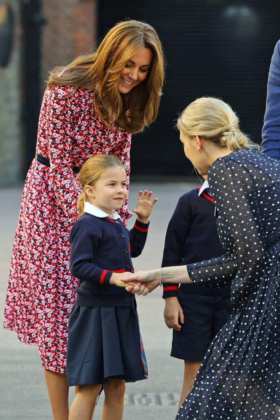 <p>Princess Charlotte started in Reception class at Thomas' school in London, where her brother Prince George is two years ahead of her, in September 2019. Just like George, it's believed Charlotte is known as 'Charlotte Cambridge' to her school friends, considering her official title, 'Her Royal Highness Princess Charlotte of Cambridge' is a bit of a mouthful to say during the register.</p>