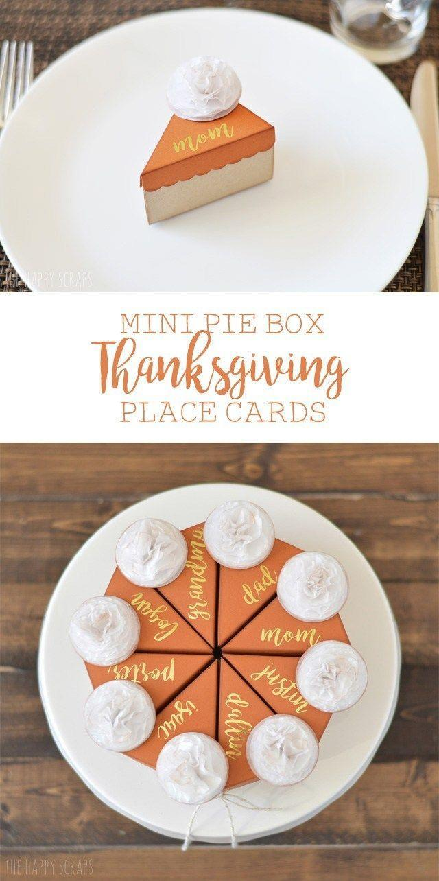 "<p>Celebrate everyone's favorite <a href=""https://www.countryliving.com/food-drinks/g1384/thanksgiving-desserts/"" rel=""nofollow noopener"" target=""_blank"" data-ylk=""slk:Thanksgiving dessert"" class=""link rapid-noclick-resp"">Thanksgiving dessert</a> with these adorable <a href=""https://www.countryliving.com/food-drinks/g974/pumpkin-pie-recipes/"" rel=""nofollow noopener"" target=""_blank"" data-ylk=""slk:pumpkin pie"" class=""link rapid-noclick-resp"">pumpkin pie</a> place cards. You can even house a few candies or a note of gratitude within the ""pie"" box!</p><p><strong>Get the tutorial at <a href=""https://tatertotsandjello.com/mini-pie-box-thanksgiving-paper-place-cards-diy/"" rel=""nofollow noopener"" target=""_blank"" data-ylk=""slk:Tatertots + Jello"" class=""link rapid-noclick-resp"">Tatertots + Jello</a>. </strong></p><p><strong><a class=""link rapid-noclick-resp"" href=""https://www.amazon.com/acrylic-paint-orange-craft-smart/dp/b00oqk6wdo?tag=syn-yahoo-20&ascsubtag=%5Bartid%7C10050.g.1538%5Bsrc%7Cyahoo-us"" rel=""nofollow noopener"" target=""_blank"" data-ylk=""slk:SHOP ORANGE PAINT"">SHOP ORANGE PAINT</a><br></strong></p>"